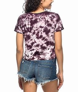Tie And Dye Marron : a lab hana aliens burgundy tie dye t shirt zumiez ~ Melissatoandfro.com Idées de Décoration