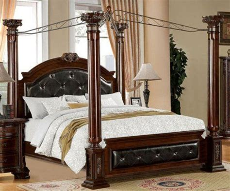 Mandalay Brown Cherry Finish Cal King Size Bed Frame Set