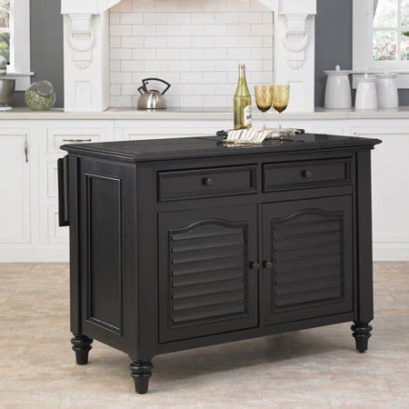 Home Styles Bermuda Kitchen Island, Black  Walmartcom