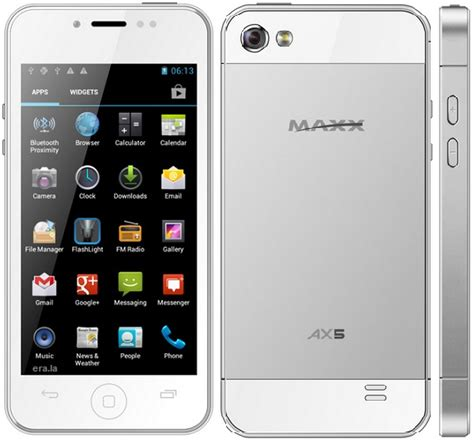 android maxx new maxx ax5 android phone white black with front