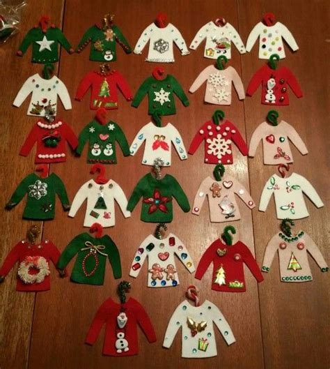 ugly christmas sweater ornaments  house pinterest