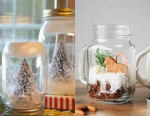 30 idees deco noel diy avec bocaux en verre personnalises With idee deco cuisine avec objet deco en verre