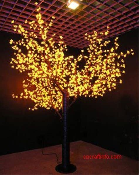 5148 led h 5m luminous maple tree lights with cone shape