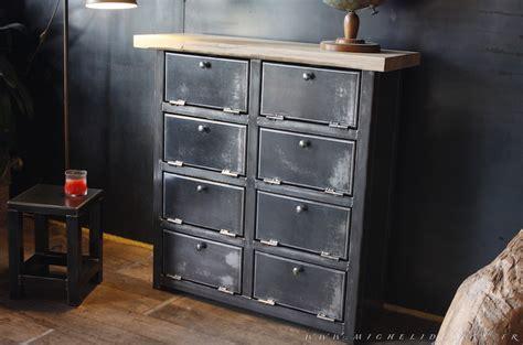 meuble 8 clapets m 233 tal style industriel sur mesure