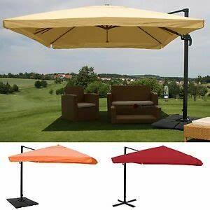 Sonnenschirm 350 Mit Kurbel : 350 x 350 cm sonnenschirm alu ampelschirm mit kurbel volant gastronomie xxl ebay ~ Watch28wear.com Haus und Dekorationen