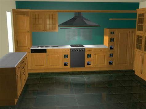 Wood Kitchen Cabinets 3d Model 9download 3d Modelcrazy
