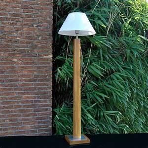 Stehlampe Holz Design : design stehleuchte stehlampe deckenfluter holz natur ebay ~ Watch28wear.com Haus und Dekorationen