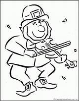 Leprechaun Coloring Fiddle Coloringhome Horror Rainbow Cartoon Template 출처 Library Clipart sketch template