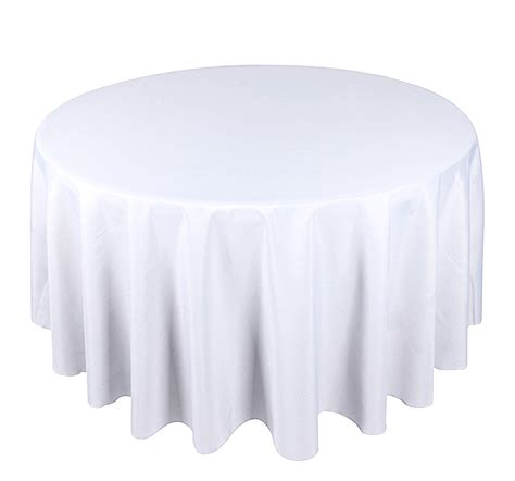 round white table cloth white round tablecloth polyester 120 quot 300cm elegant