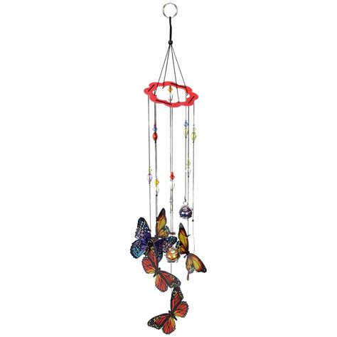 butterfly wind chimes hand painted butterfly wind chime the hunger site