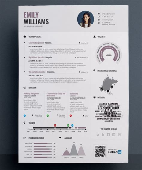 20419 infographic resume template resume template infographic simple resume template