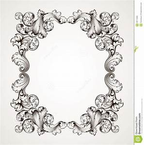 18 Baroque Frame Vector Border Images - Vector Corner ...