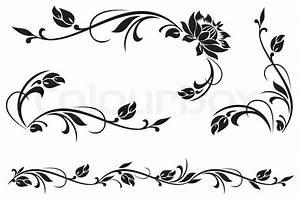 Jugendstil Florale Ornamente : vektor design elemente f r floral vektorgrafik ~ Orissabook.com Haus und Dekorationen