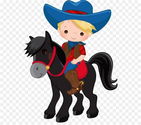 cowboy zeichnung clip art cowboy auf pferd vektor png