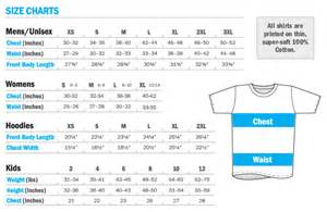 Fruit of the Loom Shirt Size Chart