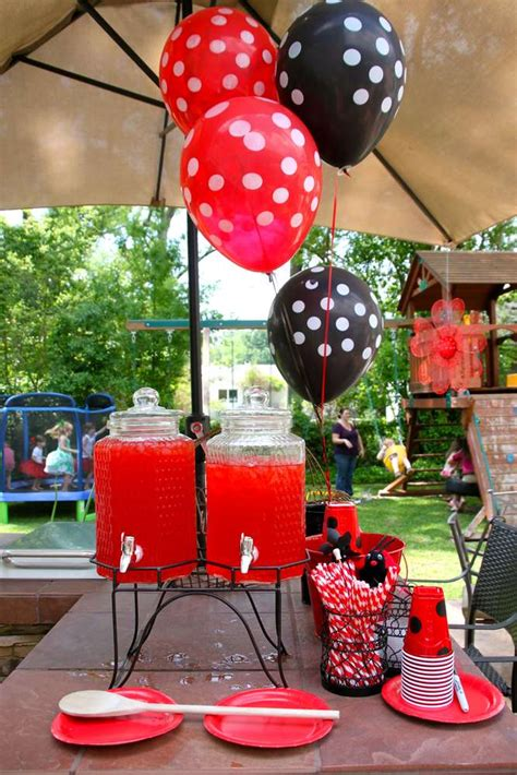 Ladybug Garden Decoration Juego by Ladybug Picnic Birthday Ideas Photo 5 Of 31