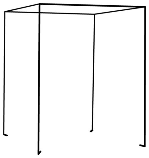 iron four poster freestanding bed canopy black