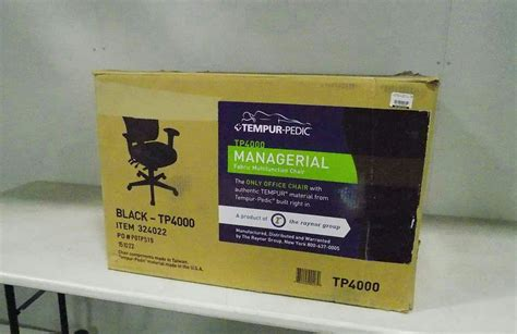 tempur pedic tp4000 managerial office chair black ebay