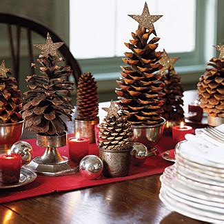 pine cone decorations for christmas let the holiday decorating begin on pinterest bottle brush trees christmas trees and