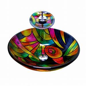 Decorative Stained Glass Multi Color Maple Pattern