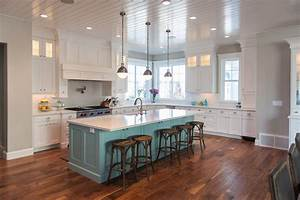 teal kitchen island contemporary kitchen benjamin With what kind of paint to use on kitchen cabinets for blue heron wall art