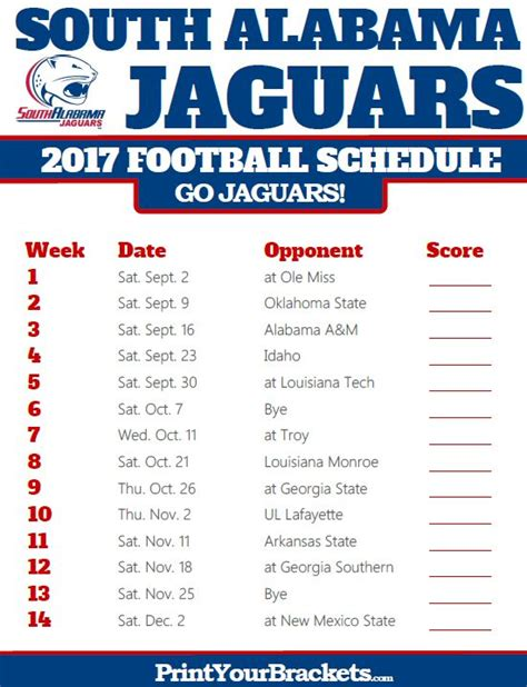 Jaguars C Schedule by 335 Best Printable College Football Schedules Images On