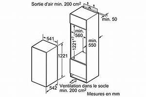 Frigo Encastrable Dimension : meuble cuisine pour frigo encastrable maison et mobilier ~ Premium-room.com Idées de Décoration