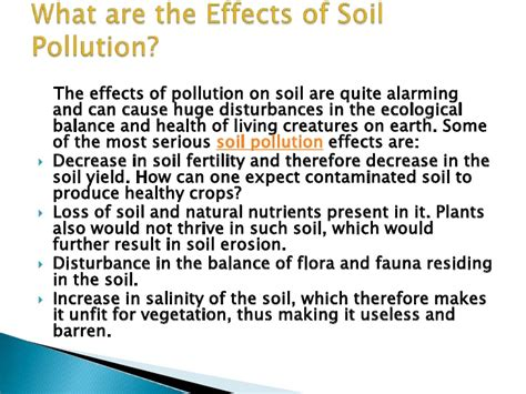 soil pollution health effect   soil