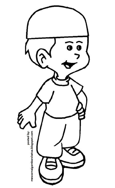 gambar mewarnai gambar cowok keren ganteng kartun muslim