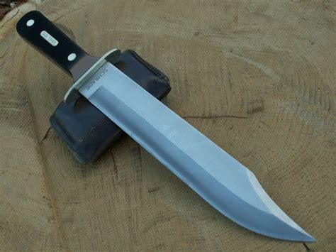 Large!! Old Timer Schrade Bowie Knife Full Tang Thick