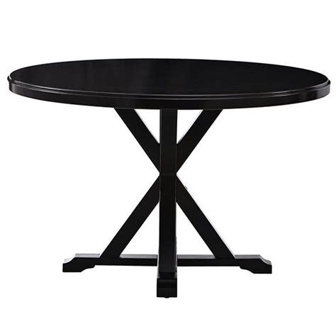 black round pedestal dining table home decorators collection hamilton 48 in antique black