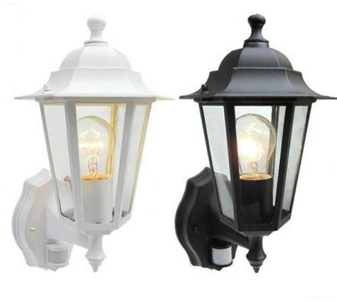 outdoor pir detector security lantern wall light garden home house coach l ir ebay