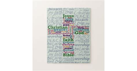 Free shipping on orders over $25 shipped by amazon. Christian Religious Word Art Cross Jigsaw Puzzle | Zazzle