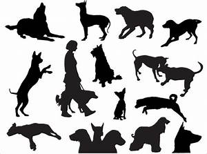 Dog Silhouettes Vector   Download Free Vector Art   Free ...