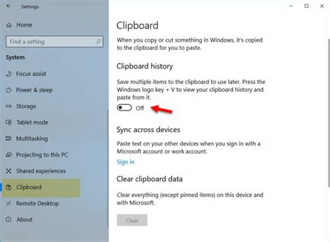 how to enable and use clipboard history windows 10