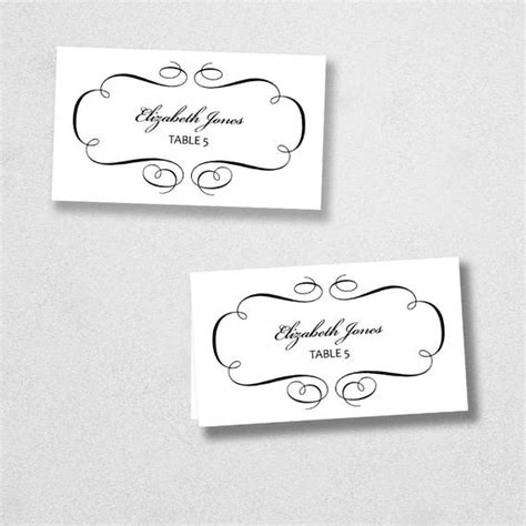 printable place card template instant  escort card