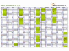 Ferien RheinlandPfalz 2012 Ferienkalender zum Ausdrucken