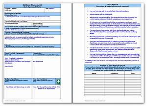 demolition method statement and risk assessment With electrical installation method statement template free