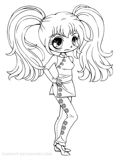 chibi coloring pages  printable chibi coloring pages