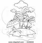 Coloring Tropical Outline Chair Sunset Clip Lounge Adult Clipart Island Rf Template Bnp Studio Printable Ocean sketch template