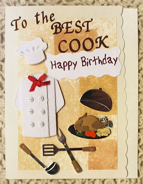 happy birthday card    cook   etsy