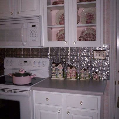 stainless kitchen backsplash 33 best tin backsplash images on white 2465
