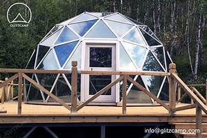 glass dome house for living and recreation