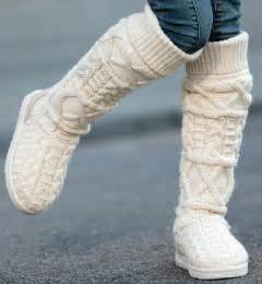 womens knitted boots uk beige color 39 s fashion designer brand by knittedshoeshouse