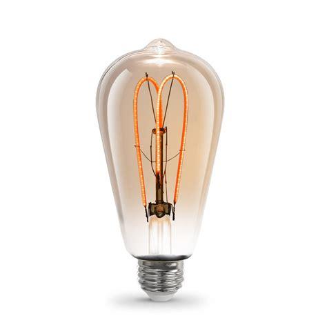 feit light bulbs feit electric 6 5w soft white 2000k st19 dimmable led