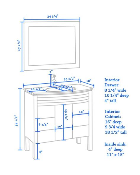 typical vanity height the average height of bathroom vanity clairelevy about