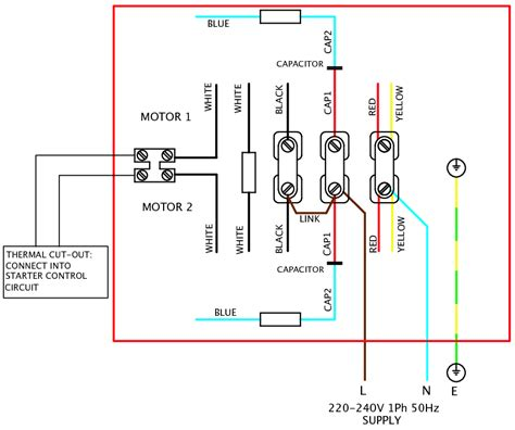 single phase motor wiring diagram elec eng world