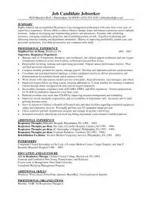 Respiratory Therapist Resume Objective by Sle Respiratory Therapy Resume Free Ppt File Templates