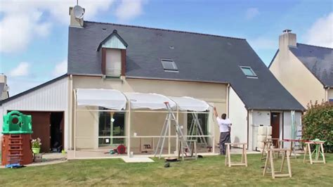 Abri De Terrasse Rideau  Montage D'un Abri Tendanz Youtube