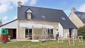 abri de terrasse rideau montage d39un abri tendanz youtube With abri de terrasse rideau
